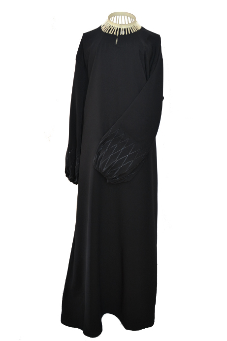 Criss Cross Black Abaya