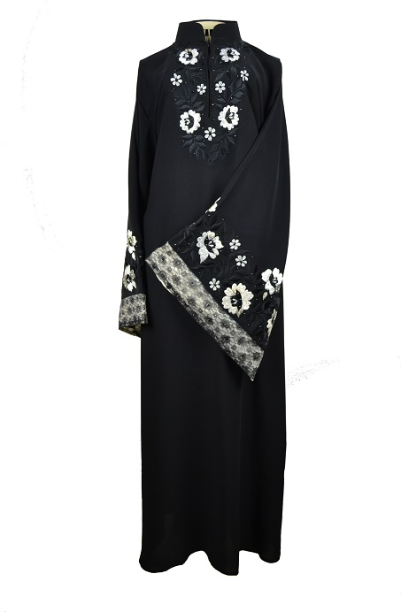 Snow Bloom Abaya