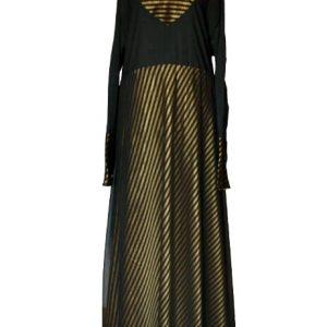 1 gold abaya
