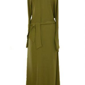olive green khaki abaya 1