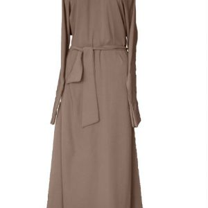 taupe grey brown abaya 2