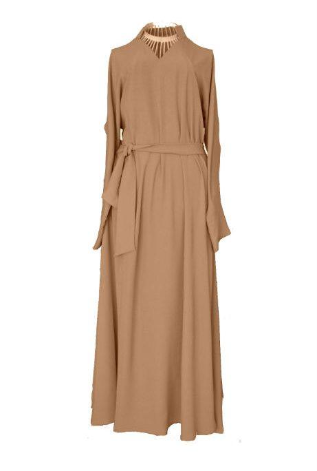 Caramel Abaya - front