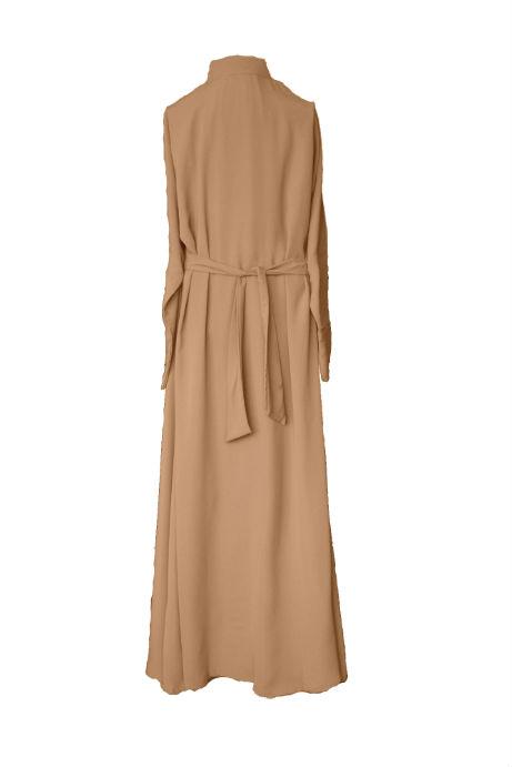Caramel abaya - Back