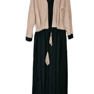 Peach Lace Abaya- front