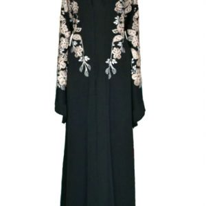 Nightingale Black Abaya - front