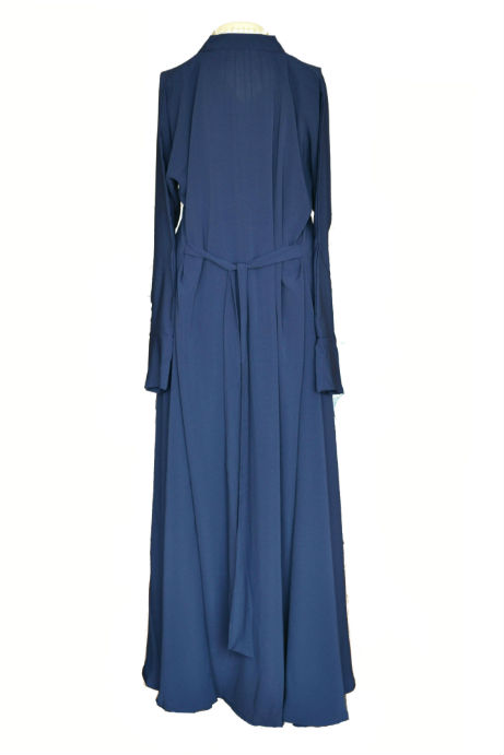 Navy blue abaya uk - back