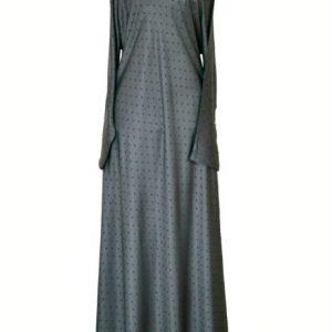 silver grey abaya 1